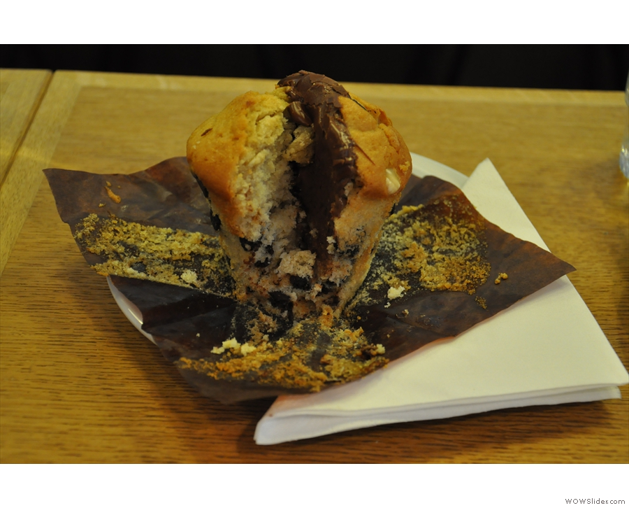 An awesome Nutella muffin from Dose, Dealer de Cafe in Paris.