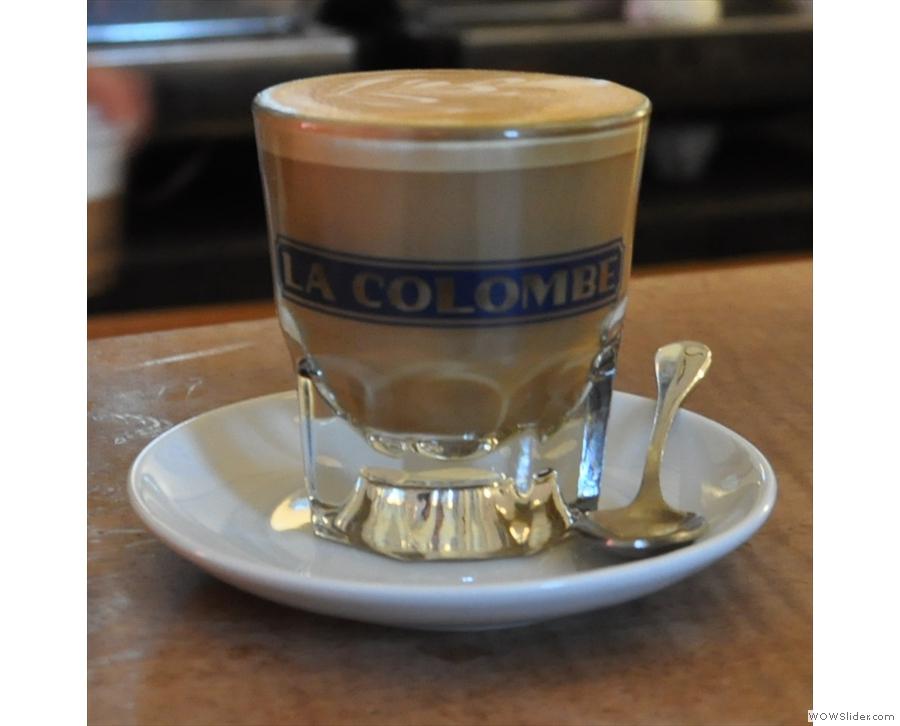 La Colombe, Lafayette St, helping dismiss the notion that New York baristas are grumpy.