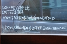 Brew Oxford, where owner/barista Drew, is one of the happiest I know!