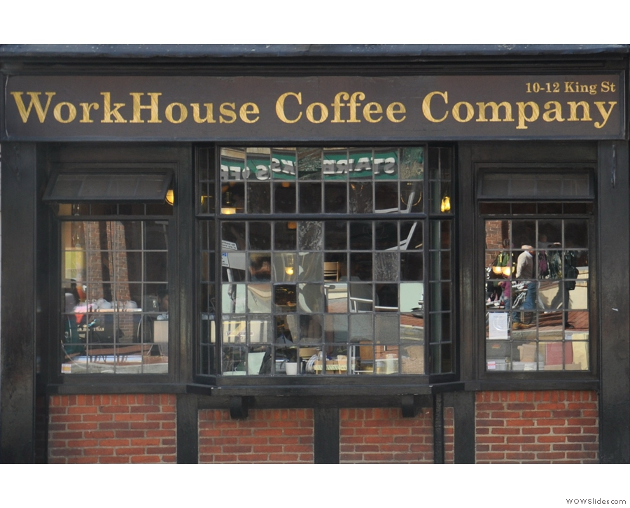 Workhouse Coffee on Reading's King Street, coffee passion personified.