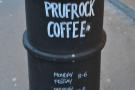 Prufrock Coffee, legend of the London Coffee Scene.