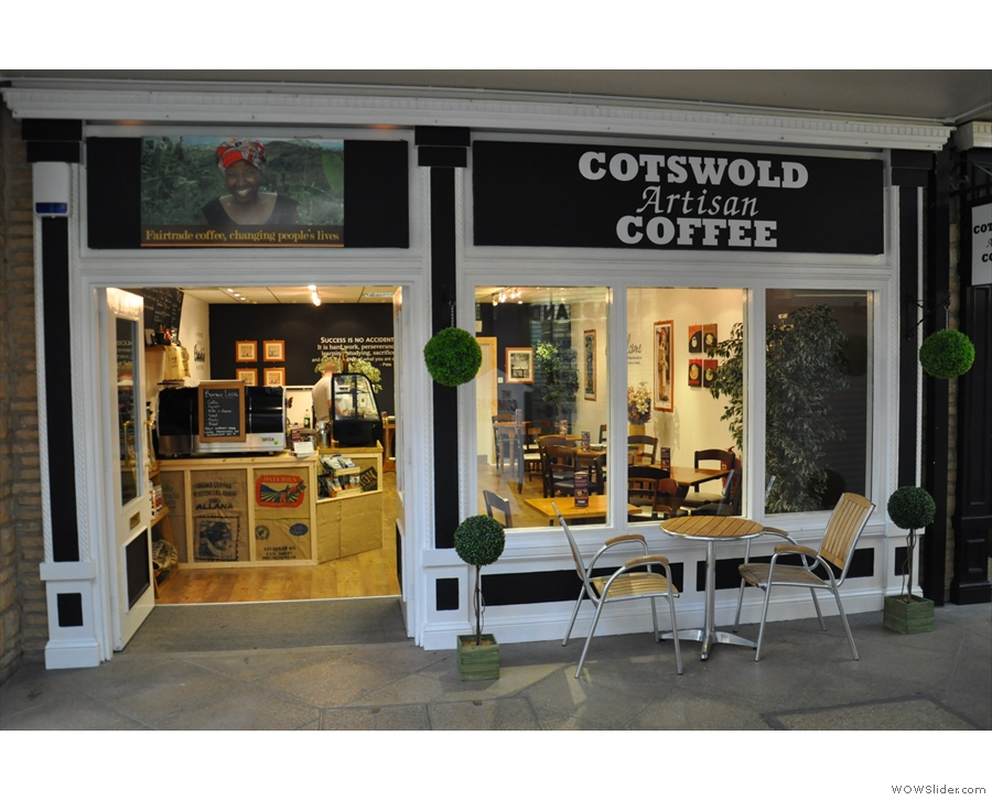 ... while the second Coffee Spot from 2013 is Cotswold Artisan Coffee from Cirencester.