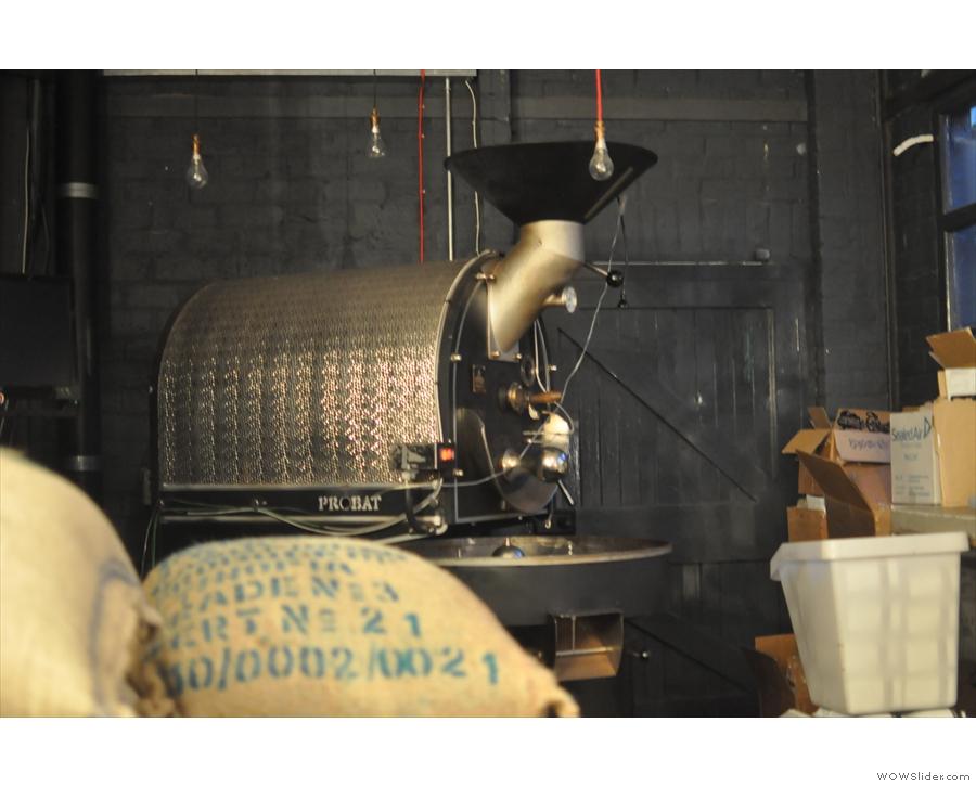 Steampunk's 12 kg Probat roaster.