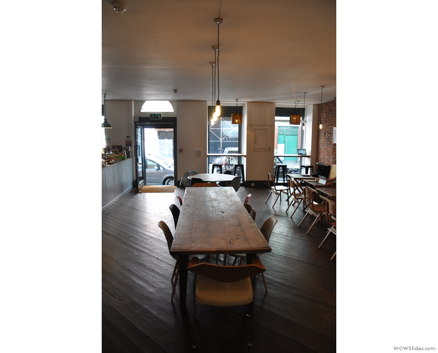 The communal table as seen from the other side.