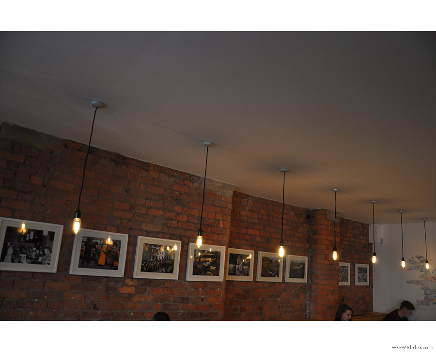 I was also enamoured with the row of lights by the pictures on the left-hand wall...