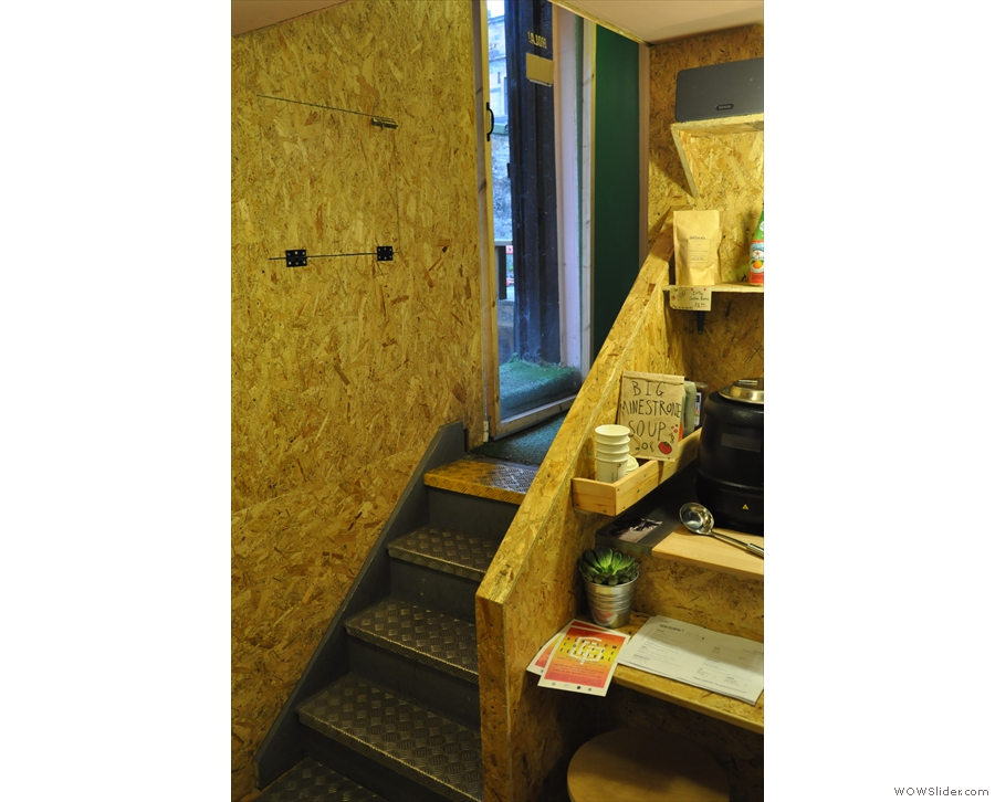 ... while there are also steps down to the 'basement'...