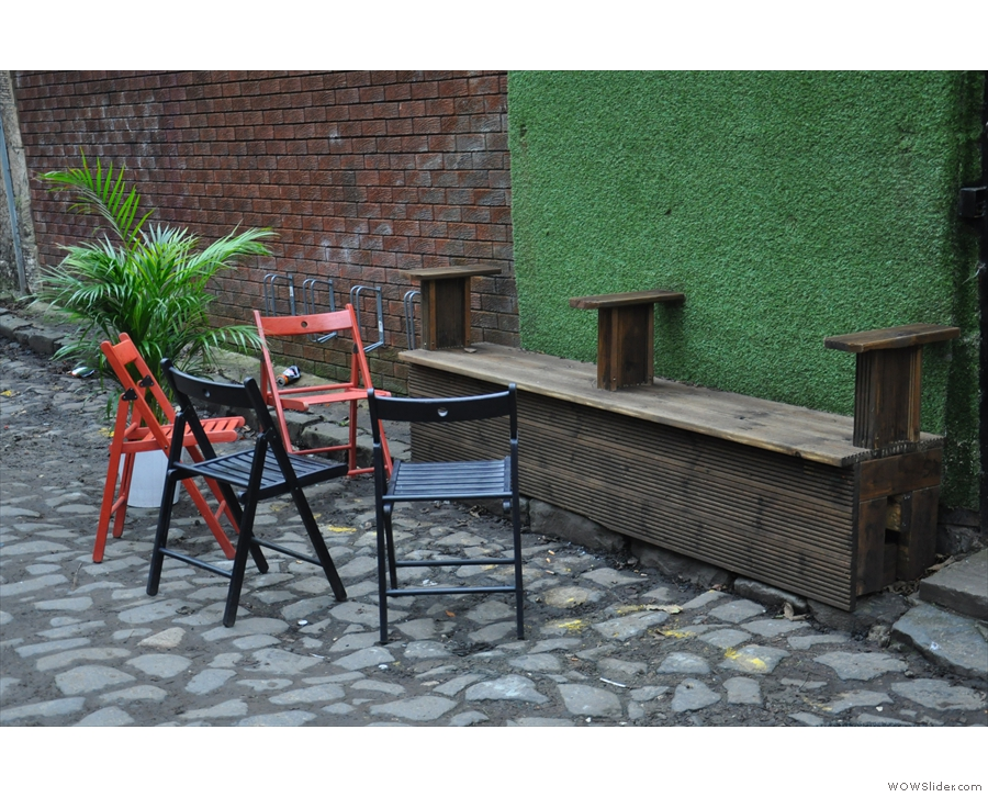 ... and the cluster of chairs if you want to sit outside.