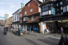 The Boston Tea Party, on Salisbury's pedestrianised High Street.
