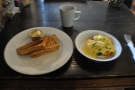 I had Eggs Florentine and toast, of course...