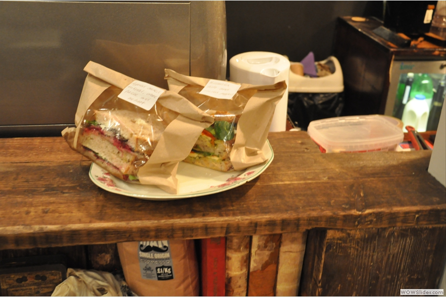 Wild at Heart also does sandwiches. One of the disadvantages of arriving late in the afternoon is that there's not much choice left...