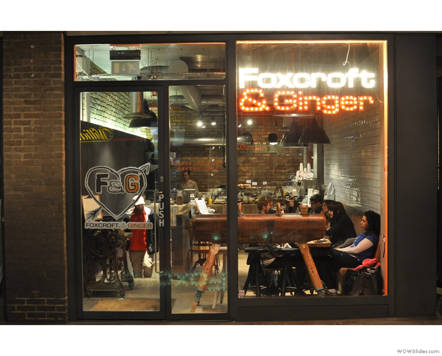 Foxcroft & Ginger on Berwick Street in Soho from 2013.