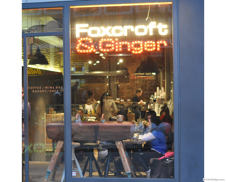 Foxcroft & Ginger on Berwick Street, Soho. What's that in the window...?
