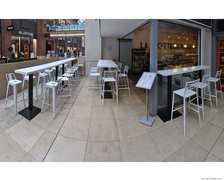 The 'outside' seating...