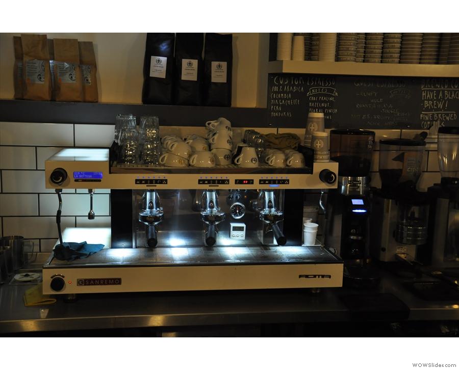The all-important espresso machine...