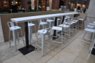The larger of the communal tables in detail...