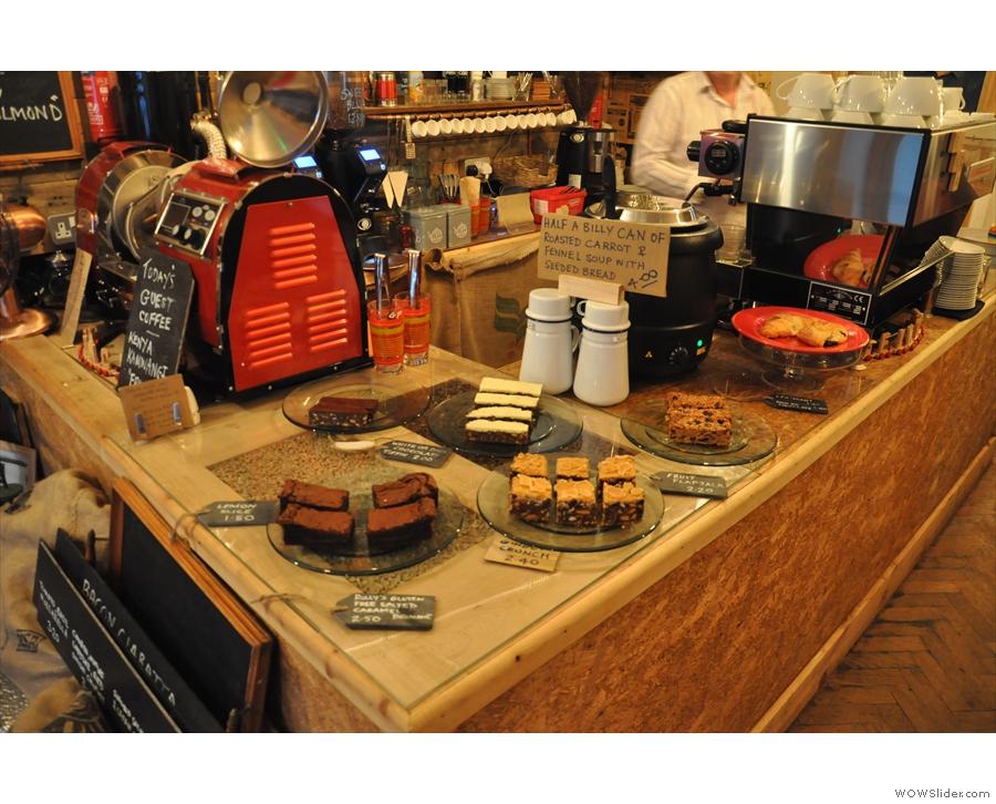 The cake display...