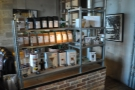 ... which houses these shelves of retail beans and kit.