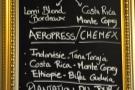 The succinct coffee menu...