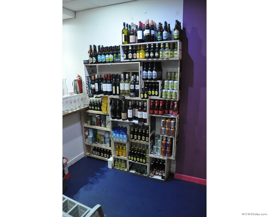 ... as well as a beer and wine selection.