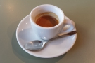 My espresso. Drinking it was like giving my throat a liquid hug.