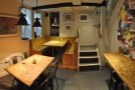 A panoramic view of the first part of the basement as we head back upstairs.