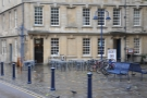 Bath's Society Cafe, occupying a large chunk of the building on the corner of Kingsmead Sq.