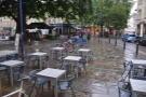The seating on Kingsmead Square. If only it wasn't always raining when I go to Bath...