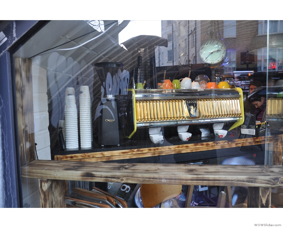 ... and the view in through the left-hand one, where we have the beautiful Gaggia.