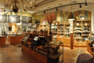 A panorama of the retail side of L.A. Burdick, as seen from just inside the door.