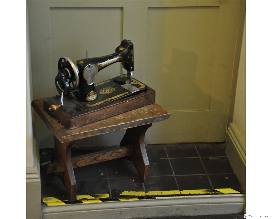 Monkton House is full of little knick-knacks, such as this old sewing machine.