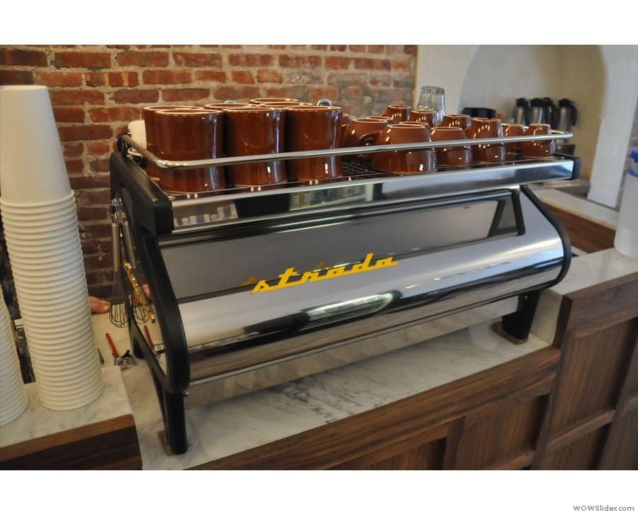 ... and next to them, the La Marzocco Strada.