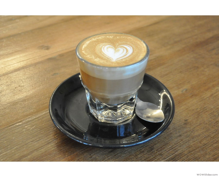 ... and followed it up with a decaf cortado.