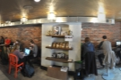 A panoramic shot of all the interior seating...