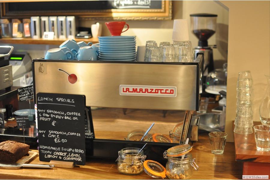The espresso machine.