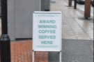 On the cold streets of Manchester, I came across an interesting sign...