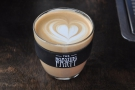 The finished article: a beautiful flat white.