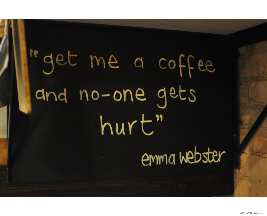 I don't know who Emma Webster is, but I know where she's coming from!