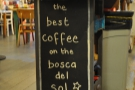 Best coffee on the Bosca del Sol? I think Cafe Boscanova is under-selling itself. Best coffee on the Dorset Coast? Maybe the best coffee in Dorset... I think more testing is required :-)
