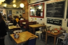 Cafe Boscanova, a warm and welcoming place on a wet and windy afternoon.