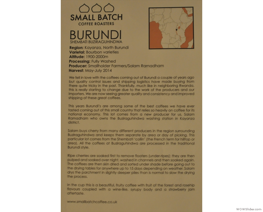 ... and, not to be left out, here's the Burundi.
