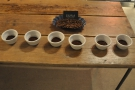 In no particular order, these are the seven coffes that we were cupping.