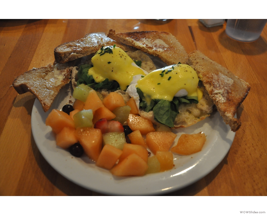 My Eggs Florentine: this being an Aussie place, it has to be all healthy though.