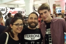And, of course, I can't have a London Coffee Festival gallery without a picture of the irrespressible Edy Piro of Terrone, along with barista Callum and fellow-blogger, Giulia.