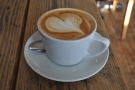 My lovely flat white, a great way to start the day.