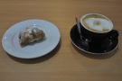 I leave you with my sfogliatine pastry and flat white.