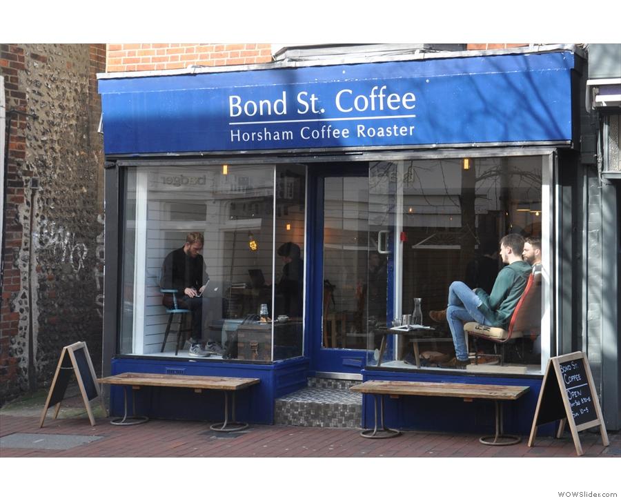 Bond Street Coffee, pleasingly enough on Brighton's Bond Street.