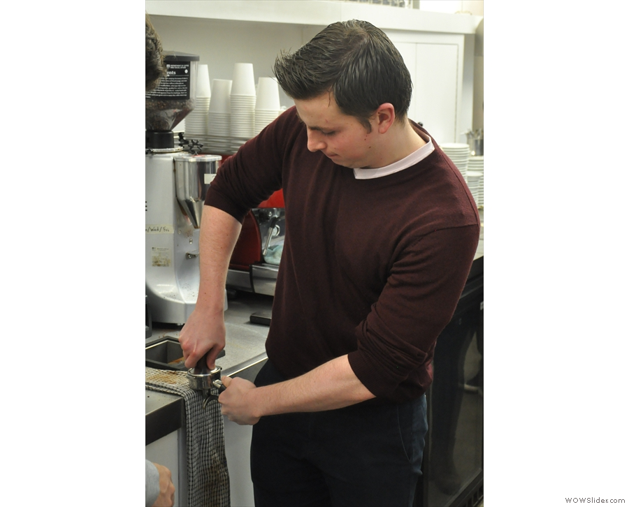 Dan shows us how it's done as he demonstrates the perfect tamping stance.