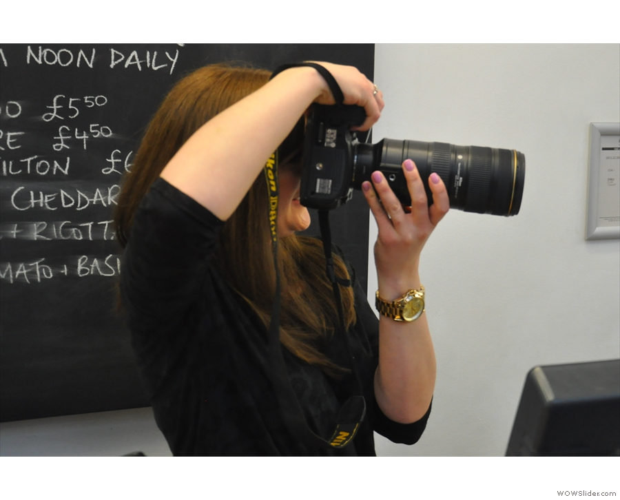 As well as hair envy, I had lens envy when I met the event's official photograph, Holly Wren.