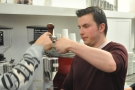 The tamp test: is the tamper level? Here Chris gives Dan some pointers.