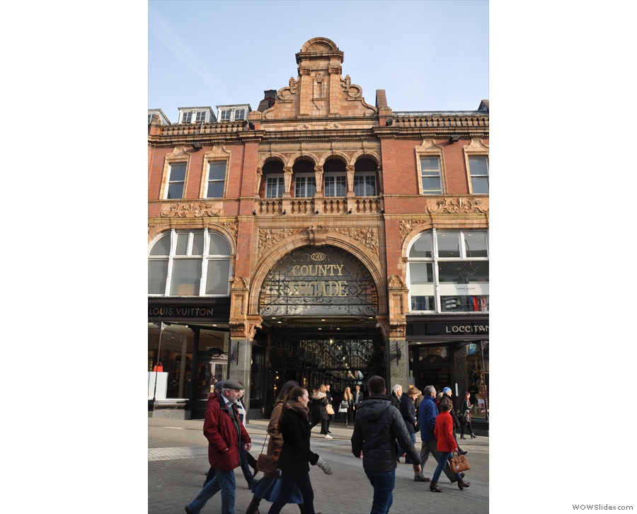 The equally (if not more so) magnificent County Arcade next door.